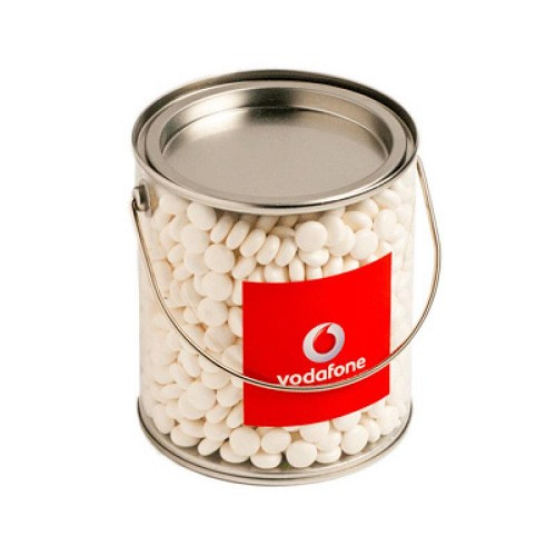 Big PVC Bucket Filled with Mints 850G (Chewy Mints) - Includes Colour Sticker on bucket