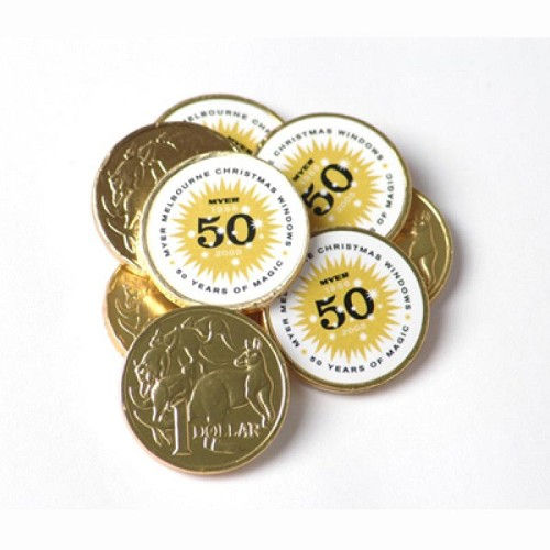 Chocolate Coins - Includes Full Colour Colour Sticker