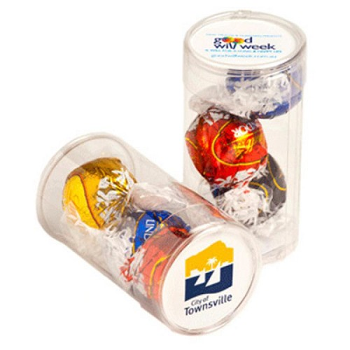Pet Tube Filled with Lindor Balls X 3 - Includes Colour Sticker, From $3.95