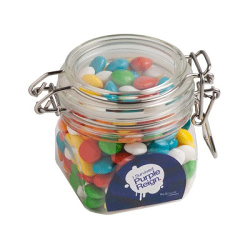 Chewy Fruits (Skittle Look Alike) in Canister 200G