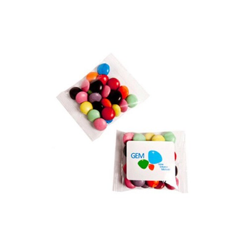 Choc Beans 25G (Corporate Colours) - Includes Colour Sticker on bag