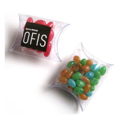Jelly Beans in Pillow Pack 25G (Mixed Colours or Corporate Colours) - Includes Colour Sticker  on Pillow Pack