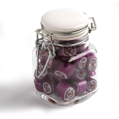 Christmas Rock Candy in Clip Lock Jar 65G