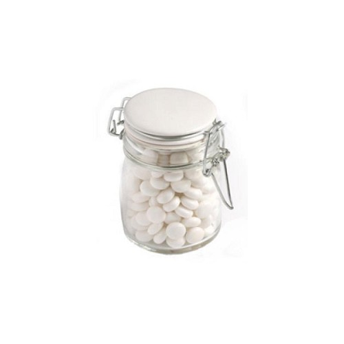 Mints in Glass Clip Lock Jar 160G - Includes Colour Sticker