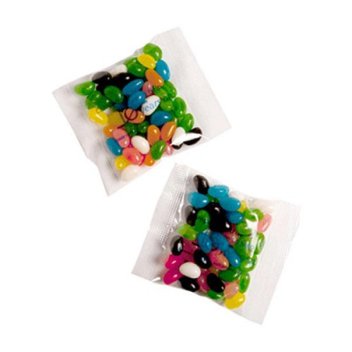 Jelly Beans Bag 50G (Mixed or Corporate Colours) - Includes One Colour print on bag
