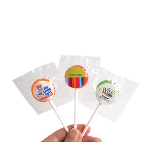 Small Branded Lollipop - Includes Colour Sticker