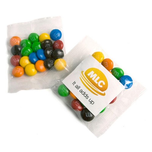 Mini M&Ms Bags 25G - Includes Colour Sticker on bag, From $1.26