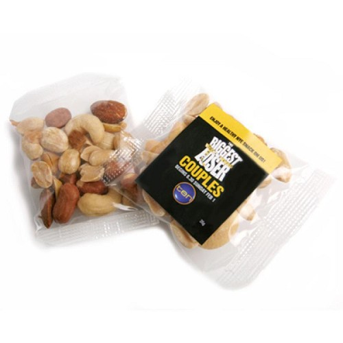 Salted Mixed Nuts Bags 20G - Includes Colour Sticker