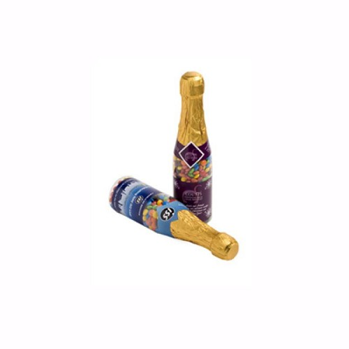 Champagne Bottle Filled with Mini M&M 220G X 1 Sticker (Neck Compulsary)
