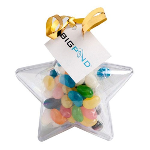 Acrylic Stars Filled with Jelly Beans 50G - Includes Tag
