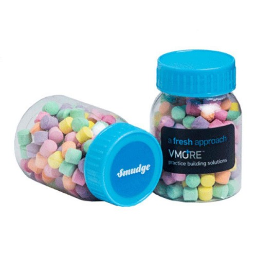 Baby Jar Filled with Rainbow Lollies 50G - Includes Colour Sticker, From $1.65