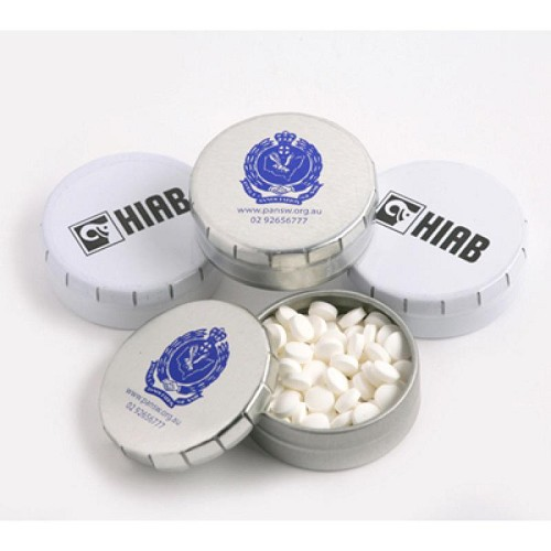 Popper Tin (White or Silver) - Includes Colour Sticker