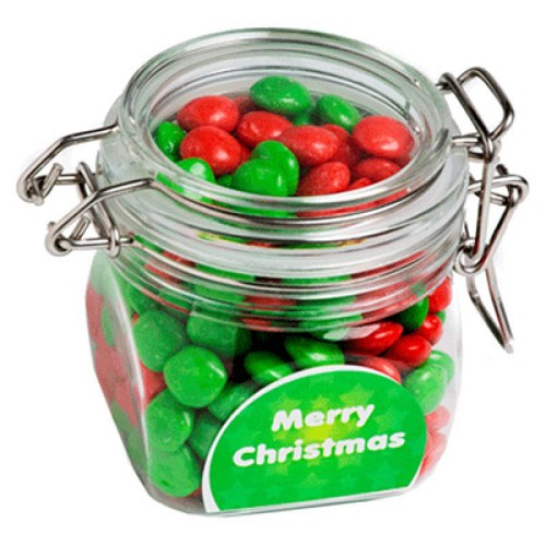 Christmas Chewy Fruits (Skittle Look Alike) in Canister 200G - Includes Colour Sticker - Xmas Special