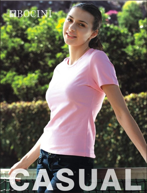 LADIES CREW NECK Ð HUG FIT SPANDEX TEE