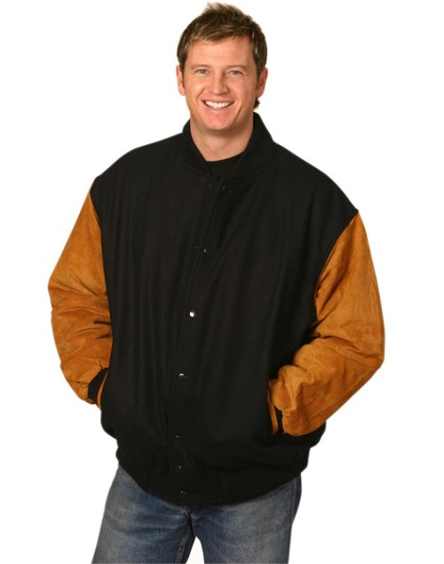 Bomber Jacket suede sleeve, From $45.6