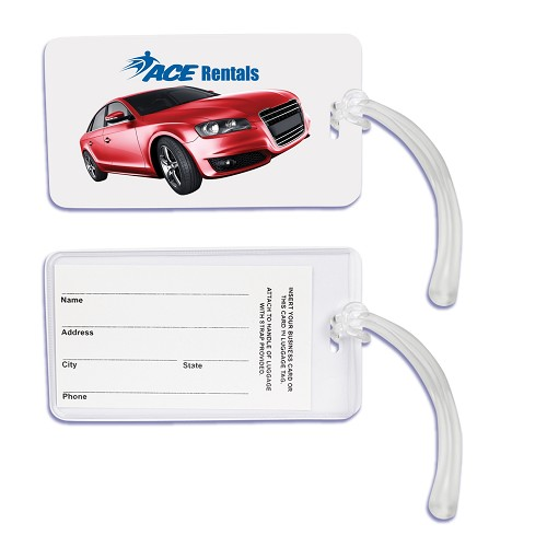 Monte Carlo Luggage Tag - Includes a 1 colour printed logo