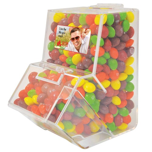 Assorted Fruit Skittles in Dispenser - Includes a full colour logo