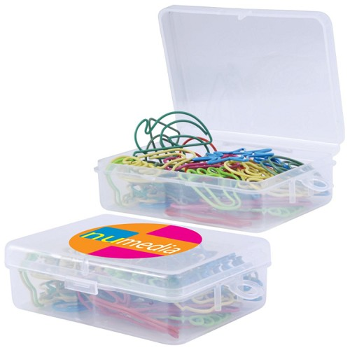 Mystery Paperclips in Box - Includes a 1 colour printed logo