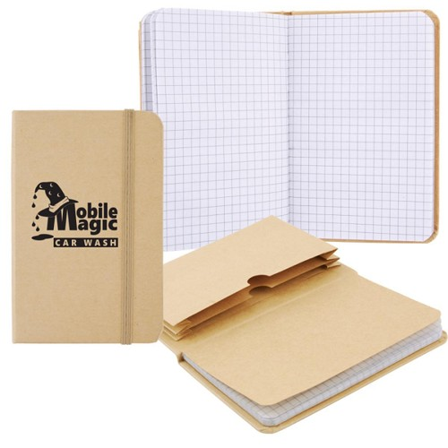 Explorer Notebook with Expanding File - Includes a 1 colour printed logo