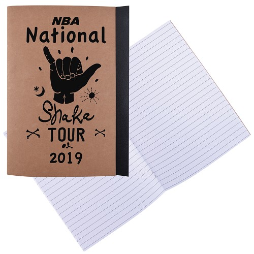 Tourist A5 Notebook - Includes a 1 colour printed logo
