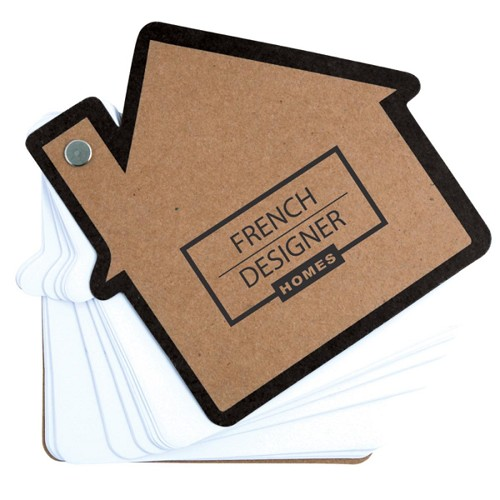 House Pivot Notepad - Includes a 1 colour printed logo
