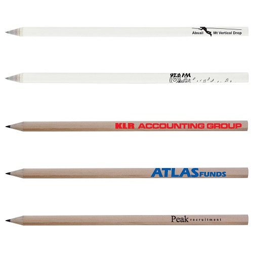 Sharpened Full Length Pencil - Includes a 1 colour printed logo