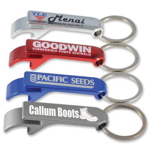 Aluminium Economy Pop Top Keytag - Includes a 1 colour printed logo