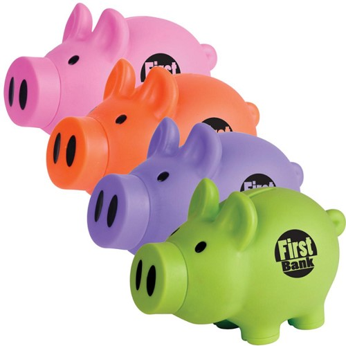 Little Piglet Coin Bank - Includes a 1 colour printed logo