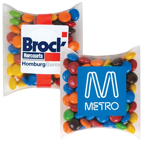 M&M's in Pillow Pack - Includes a full colour logo