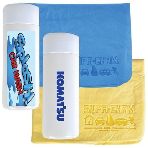 Supa Cham Chamois / Body Towel in Tube - Includes a 1 colour printed logo
