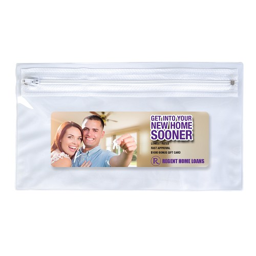 PVC Organiser / Pencil Case with Zipper - Includes a 1 colour printed logo