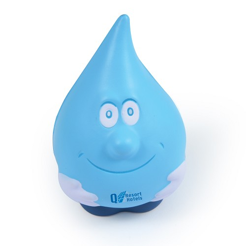 Water Drop Stress Reliever - Includes a 1 colour printed logo