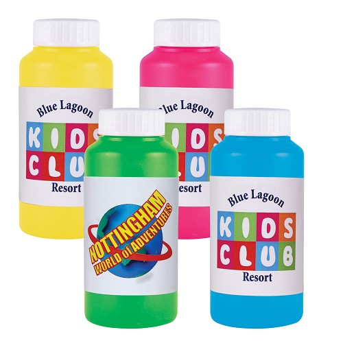 Assorted Colour Bubbles in Bottles - Includes a full colour logo