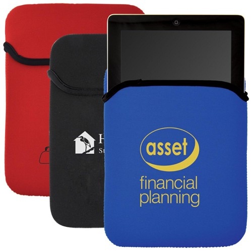 Neoprene Voyager Tablet Cover - Includes a 1 colour printed logo