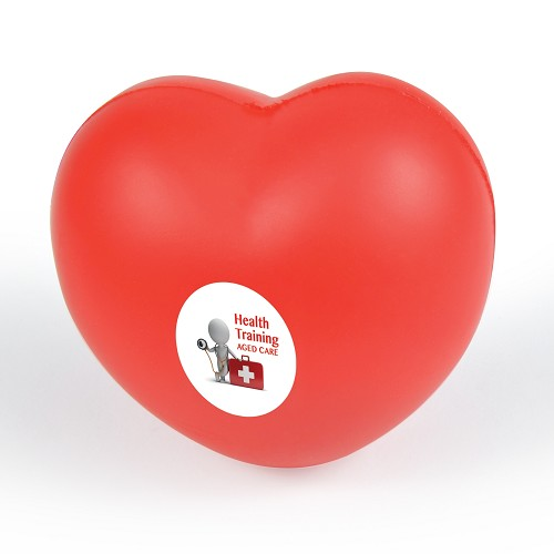Heart Stress Reliever - Includes a 1 colour printed logo