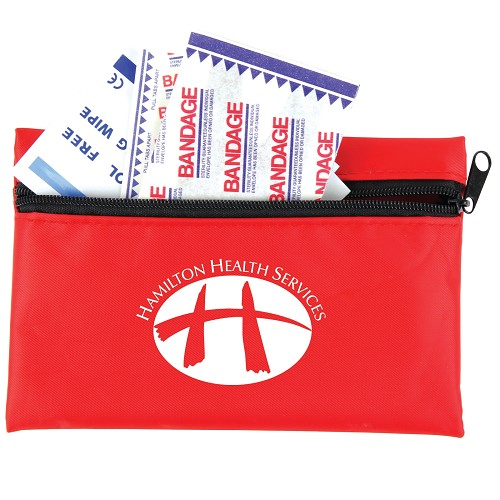Pocket First Aid Kit - Includes a 1 colour printed logo
