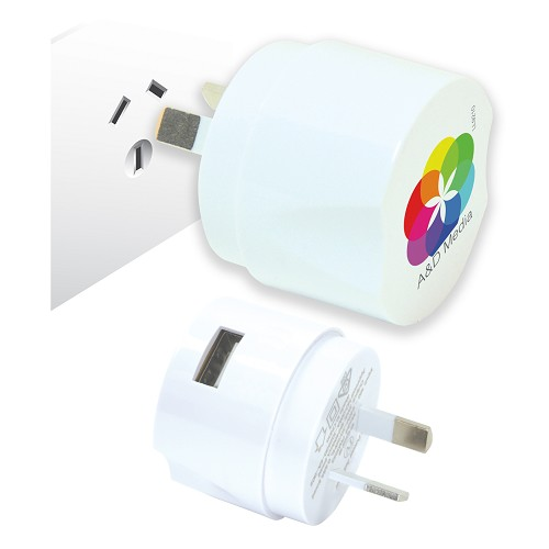 Wall Charger 240V - Includes a 1 colour printed logo