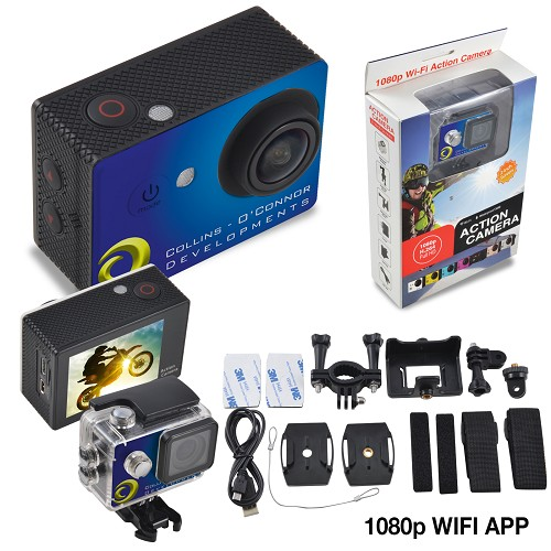 LivNow Action Cam PRO 1080 Full HD - Includes a 1 colour printed logo