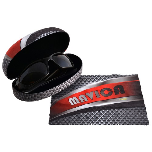 Hard Sunglasses Case with Lens Cloth - Includes full colour logo