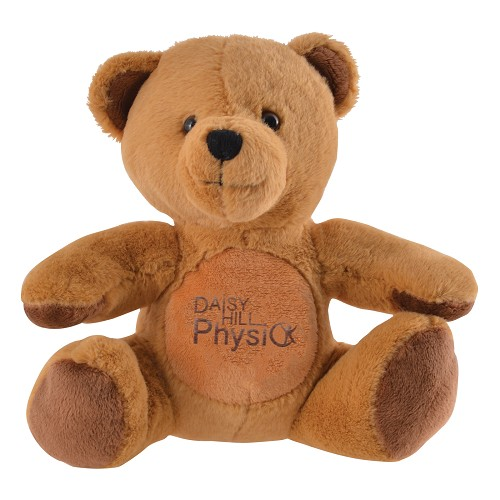 Honey Plush Teddy Bear - Includes embroidered logo