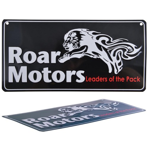 Aluminium Number Plate - Includes full colour logo