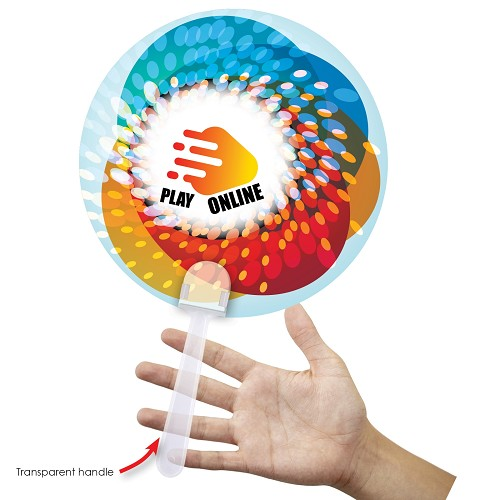 Hand Held Plastic Fan - Includes full colour logo