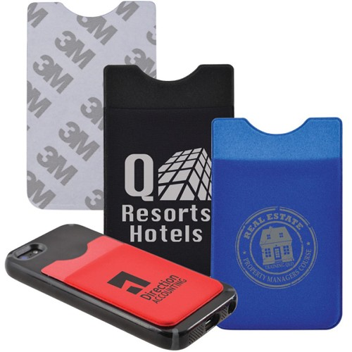 Lycra Mobile Phone Wallet - Includes a 1 colour printed logo