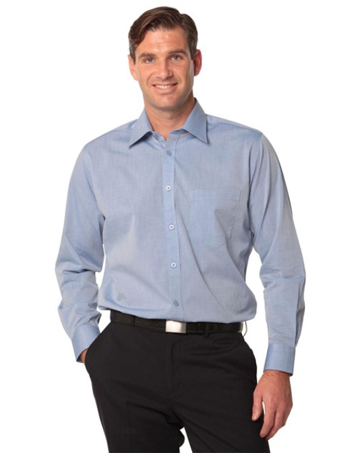 Men's Fine Chambray Long Sleeve Shirt, From $23.5