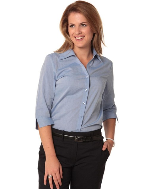 Women's Fine Chambray 3/4 Sleeve Shirt, From $20.9