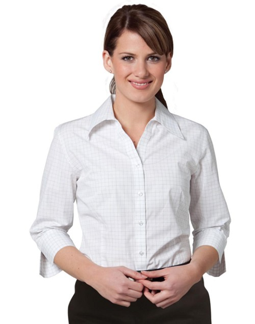 Women's 3/4 Sleeve Check Shirt