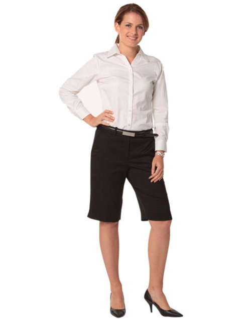 Women's Knee Length Flexi Waist Shorts in Poly/Viscose Stretch, From $33.9