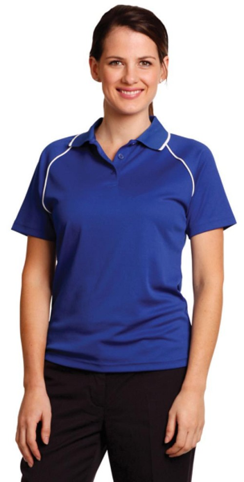 ladies cooldry raglan S/S polo, From $11.2