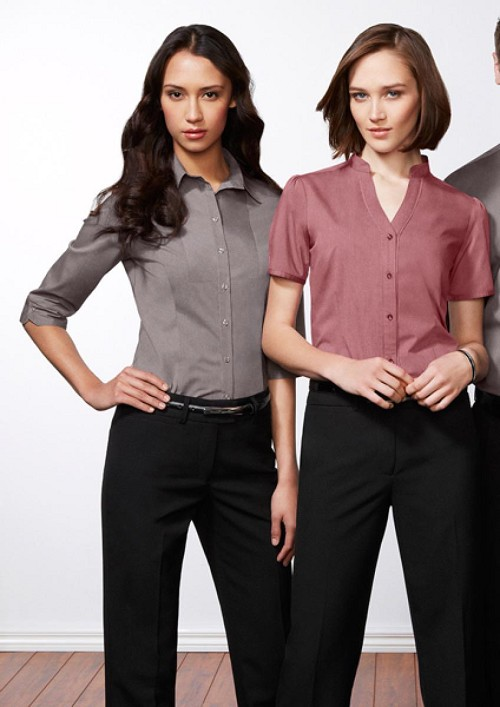 Chevron Ladies _ Sleeve Shirt