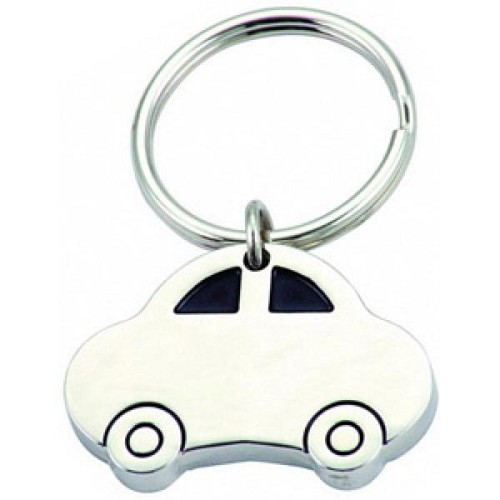 CAR SHAPE KEY RING -  Includes laser engraving logo